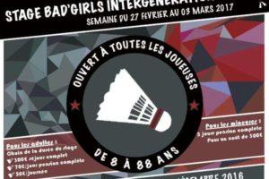 Stage BAD GIRLS 2017