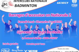 Interclubs Nationale 3 : Phase finale à Annecy